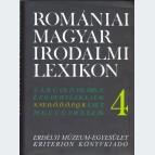 Romániai Magyar Irodalmi Lexikon 4.