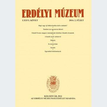 Erdélyi Múzeum 2014/2