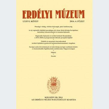 Erdélyi Múzeum 2014/4